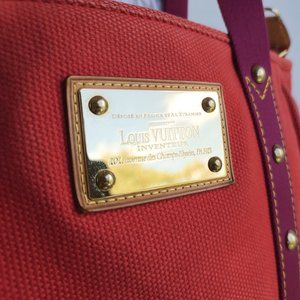 Louis Vuitton Bags - Louis Vuitton Cabas Mm Antigua Limited Edition Red